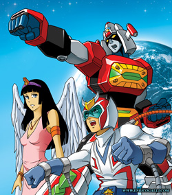 I think the main characters were Richard and Erica.  Yes, I was a full on mecha nerd then!
