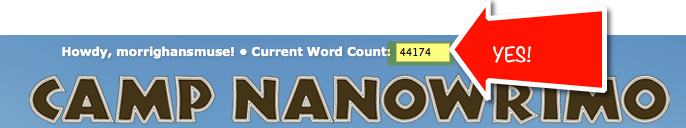 Camp NaNoWriMo Word Count of The Day...So Far!