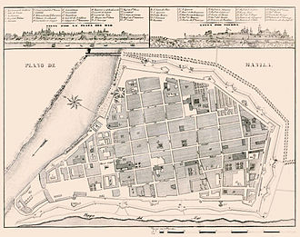 The 1851 map of Intramuros