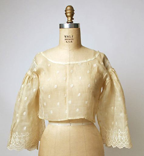 Philippine baro or blouse made of piña and cotton. Early 19th century. Metropolitan Museum of Art