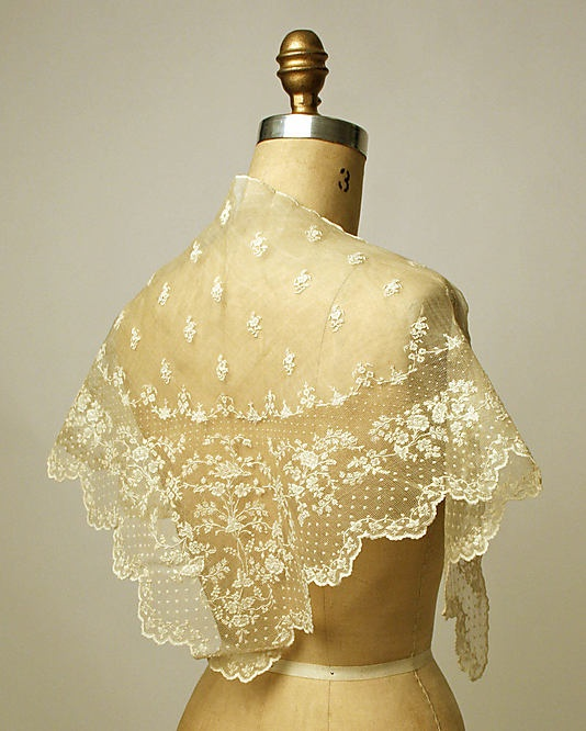 Kerchief made of piña cloth and linen.  Early 19th century.  Metropolitan Museum of Art