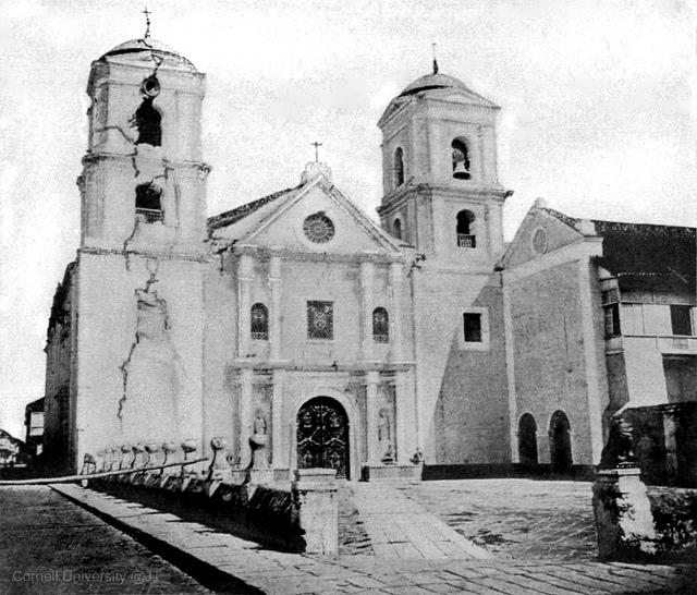 """San Augustin Curch earthquake damage, later half of 19th Century, Intramuros, Manila, Philippines"" by John Tewell"