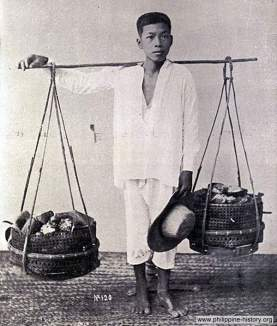 Old Manila vegetable vendor 1899