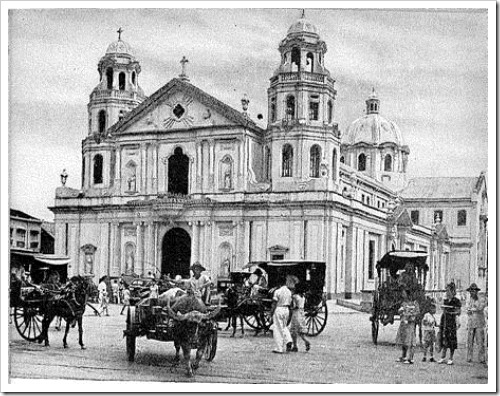 The Quiapo Church, also known as St. John the Baptist Church in present day Quiapo