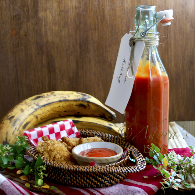 Homemade banana ketchup by Adora's Box
